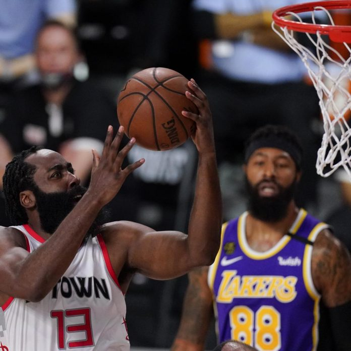James Harden Drops 36 as Rockets Beat LeBron James, Lakers in Game 1