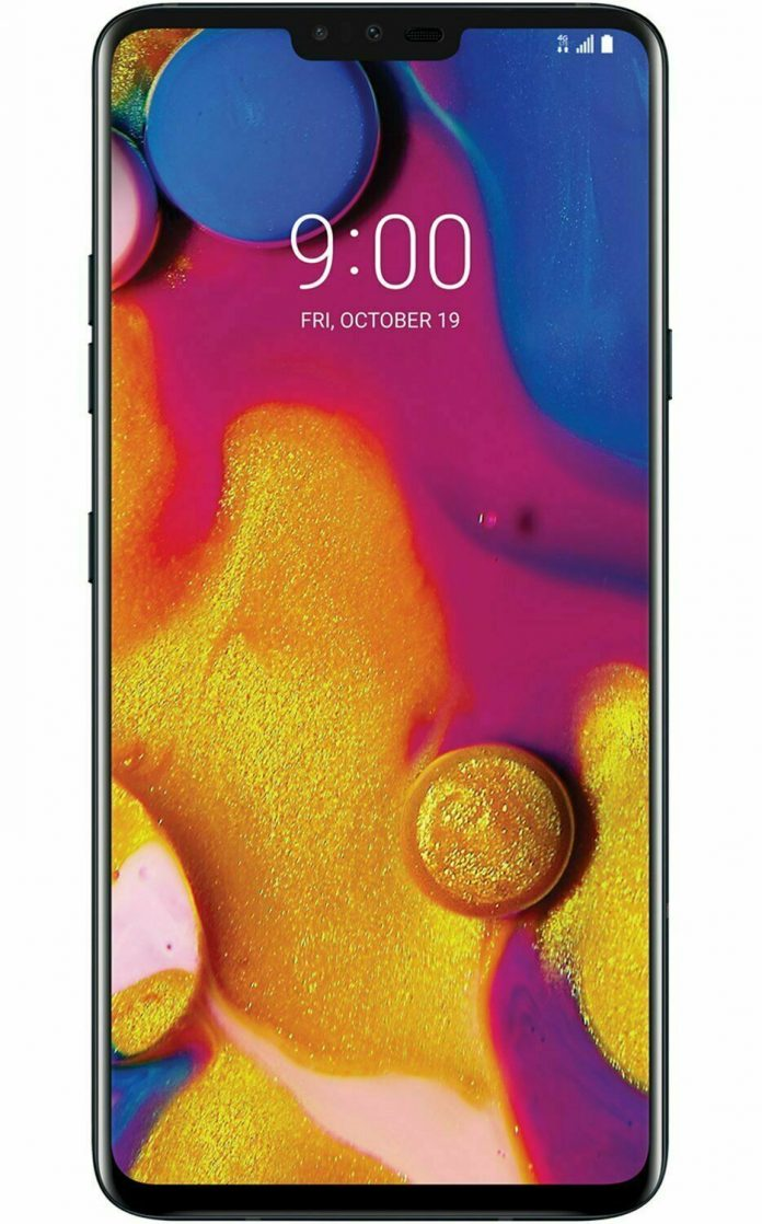 LG V40 ThinQ V405 6.4in T-Mobile 64GB Android GSM Unlocked Smartphone Shadow