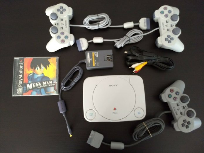 Sony PlayStation One Slim (PSone) with 3 Controllers & One Game – Clean & Tested