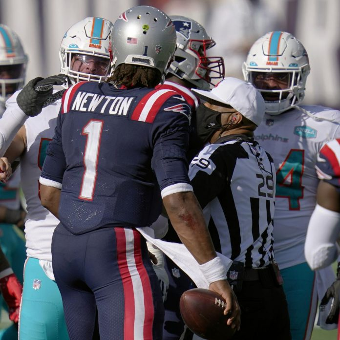 Patriots' Cam Newton Calls Dolphins' Chain-Snatch Attempt 'A Sign of Disrespect'